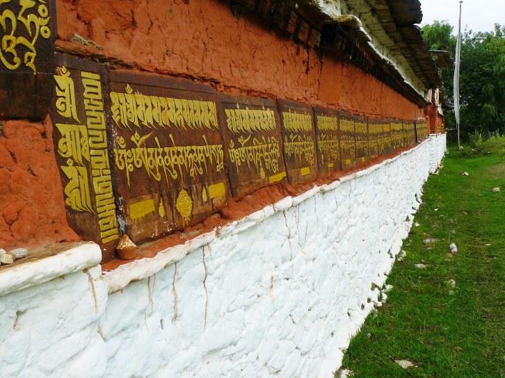 A Mani wall in Lango, Bhutan.